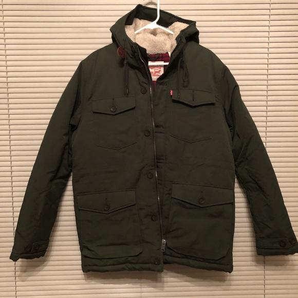b7f8c0293 Levi's thermore hunter green parka jacket